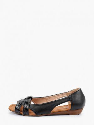 Черные кожаные балетки Ideal Shoes®