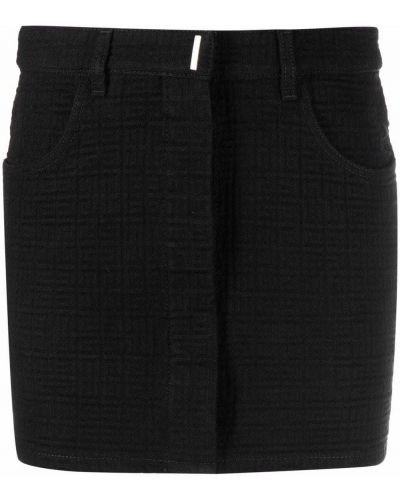 Spódnica jeansowa - czarna Givenchy