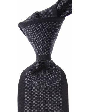 Szary krawat z jedwabiu Battistoni