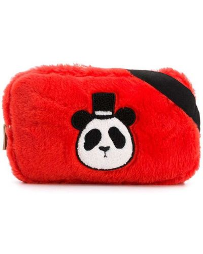Льняная красная маленькая сумка Mini Rodini