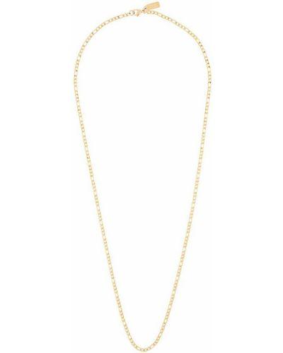 Золотистая желтая цепочка металлическая позолоченная Nialaya Jewelry