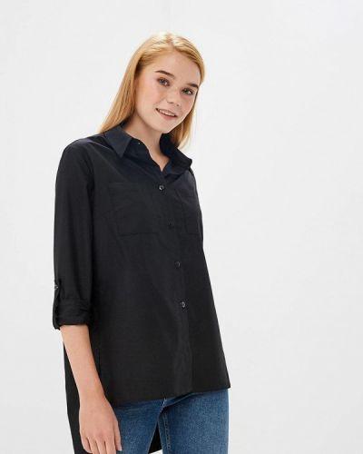 Черная блузка с длинным рукавом Fashion.love.story