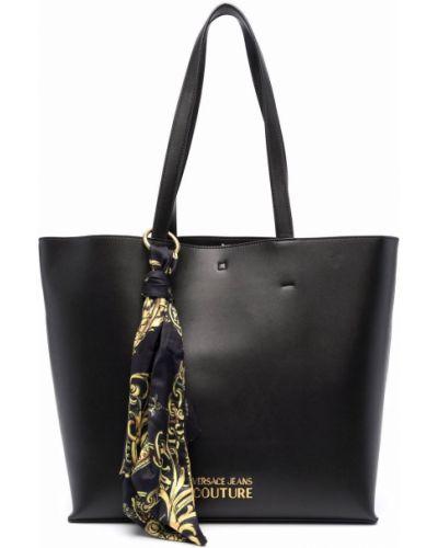 Czarna poszetka Versace Jeans Couture
