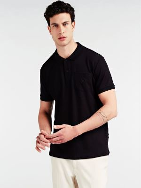 Czarny t-shirt bawełniany krótki rękaw Guess