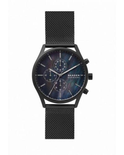 Черные часы Skagen