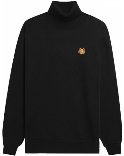 Czarny długi sweter z długimi rękawami na co dzień Kenzo