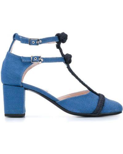 Туфли-лодочки с квадратным носком с пряжкой на каблуке Leandra Medine