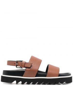 Открытые кожаные сандалии с пряжкой P.a.r.o.s.h.