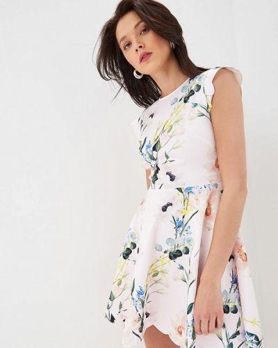 Повседневное платье весеннее розовое Ted Baker London