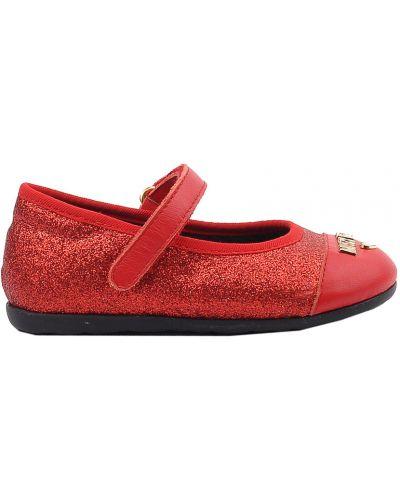 Туфли красные Moschino