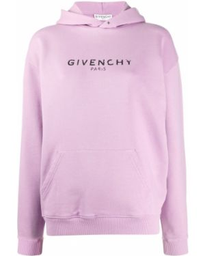 Bluza z kapturem z kapturem karmazynowy Givenchy