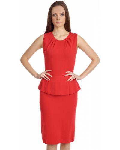 Платье осеннее красный Giambattista Valli