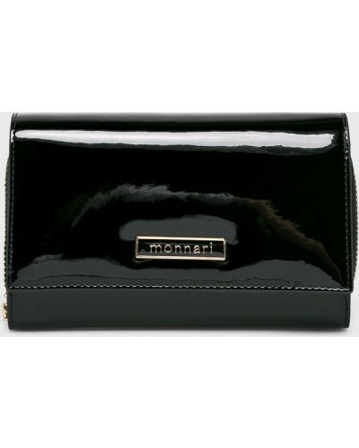 Кожаный кошелек - черный Monnari
