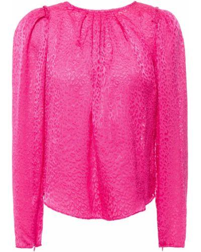 Плиссированная розовая блузка из вискозы Ronny Kobo