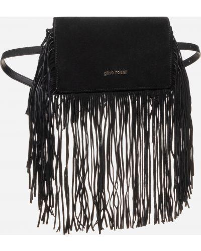Замшевая поясная сумка - черная Gino Rossi