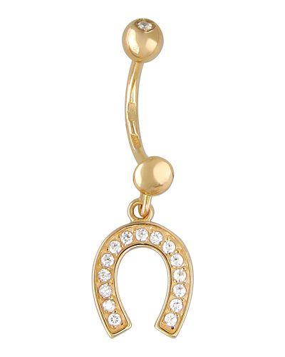 Золотые серьги с фианитом круглые эстет