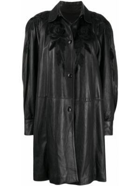 Черная кожаная куртка оверсайз A.n.g.e.l.o. Vintage Cult