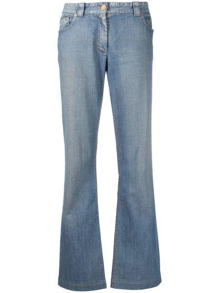 Хлопковые синие джинсы на молнии Céline Pre-owned
