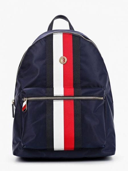 Синий городской нейлоновый рюкзак Tommy Hilfiger