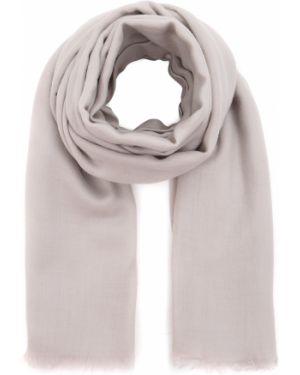 Бежевый кашемировый шарф с бахромой Malo