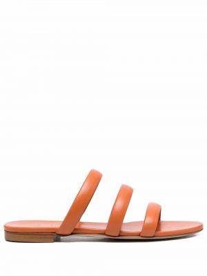 Pomarańczowe majtki skorzane peep toe Aeyde