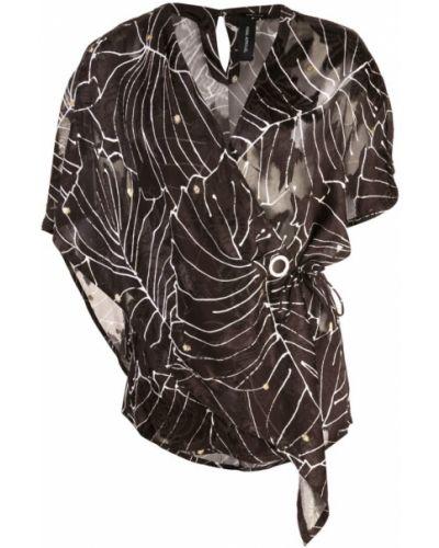 Блузка с запахом черная Yigal Azrouel