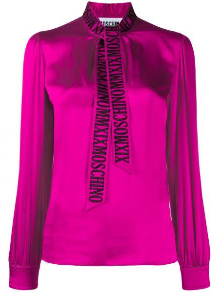 Розовая блузка с вышивкой Moschino