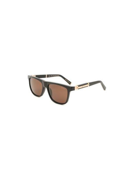 Солнцезащитные очки черные стеклянные Zilli
