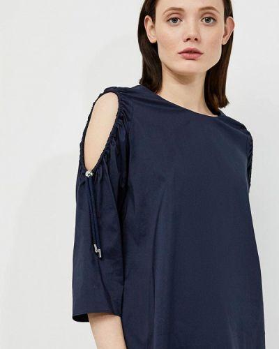 Блузка с открытыми плечами синяя польская Hugo Hugo Boss