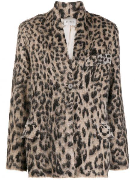 Шерстяной черный удлиненный пиджак с карманами Laneus