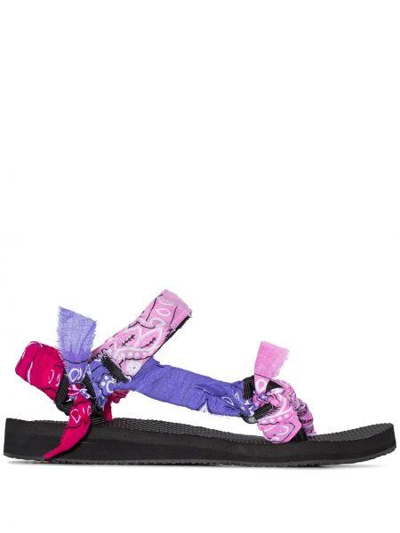 Różowe sandały bawełniane Arizona Love