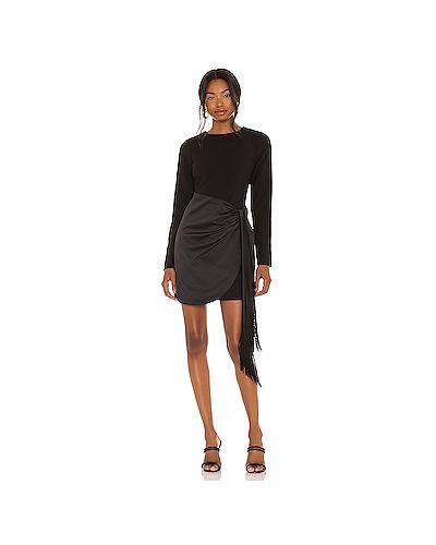 Шелковое черное платье с подкладкой Likely