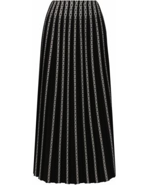 Юбка черно-белая из вискозы Alaïa