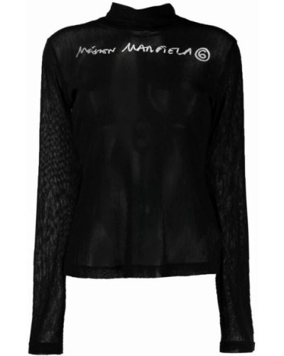 T-shirt - czarna Mm6 Maison Margiela