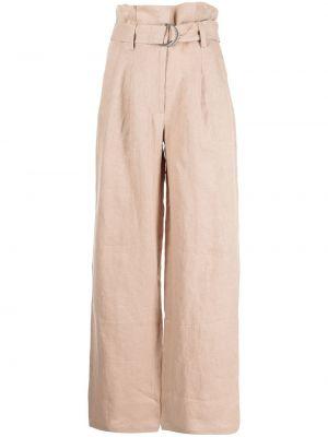 Коричневые прямые брюки Anine Bing
