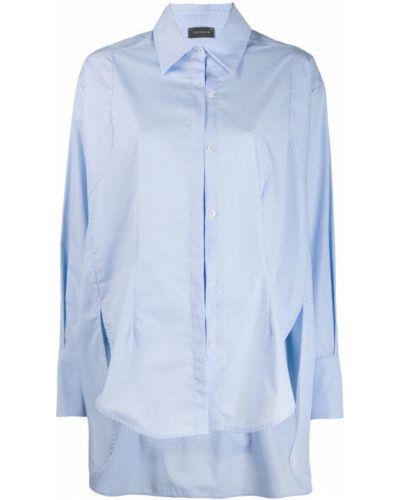 Классическая свободная синяя классическая рубашка на пуговицах Frenken