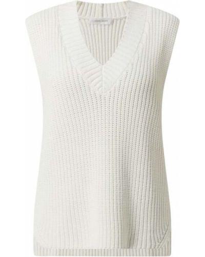 Prążkowana biała kamizelka bawełniana Joseph Janard