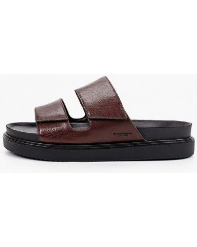 Коричневые кожаные сандалии Vagabond