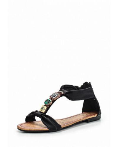 Черные сандалии Evita