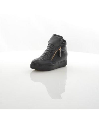 Ботильоны на танкетке черные на каблуке Sweet Shoes