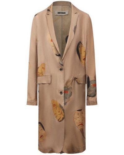 Бежевый пиджак из вискозы Uma Wang