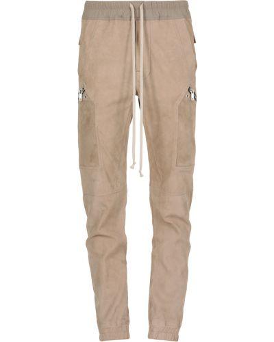Beżowe spodnie na rzepy Rick Owens