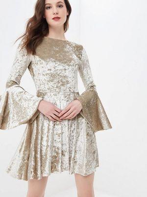 Платье осеннее бежевое Ruxara
