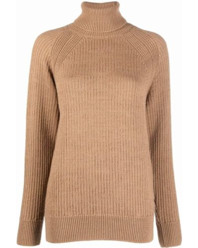 Шерстяной джемпер - коричневый Woolrich