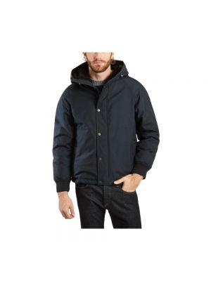 Niebieski miejski kurtka jeansowa z kołnierzem Woolrich