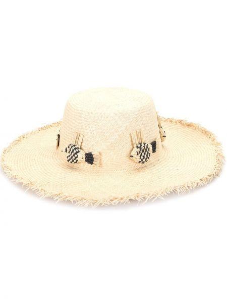 Brązowy kapelusz bawełniany Mercedes Salazar