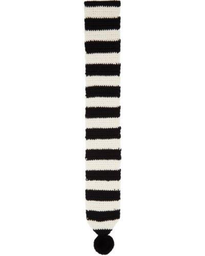 Bawełna bawełna biały szalik z łatami Ami Alexandre Mattiussi
