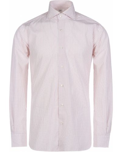 Хлопковая рубашка - белая Barba Napoli