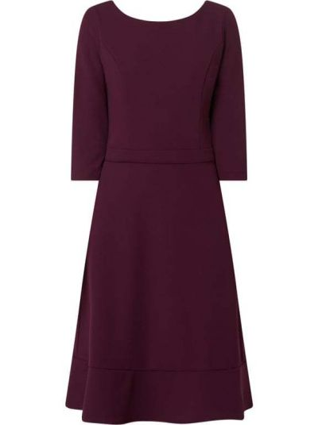 Fioletowa sukienka koktajlowa rozkloszowana Paradi