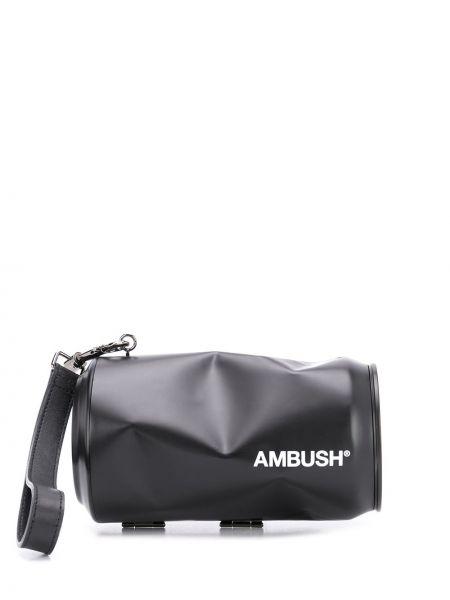 Czarna torebka srebrna z printem Ambush